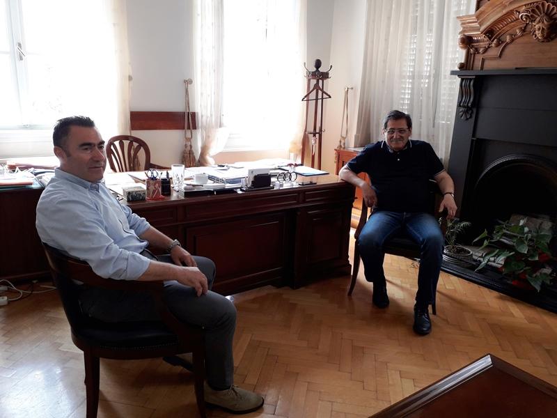 Επίσκεψη στον Δήμαρχο Πατρέων