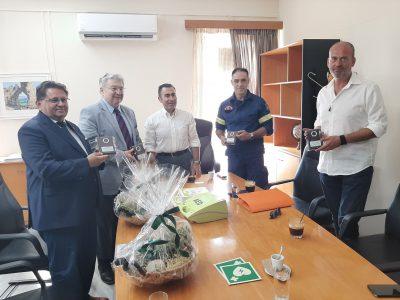 Προσφορά απινιδωτή στον Δήμο Πάργας από το Συλλόγο Γερμανό-Ελληνικής Φιλίας Filia Velbert